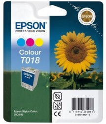 Epson - Epson T018-C13T01840120 Renkli Kartuş - Orijinal