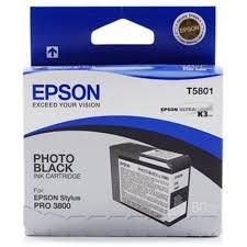 Epson - Epson T5801-C13T580100 Foto Siyah Kartuş - Orijinal