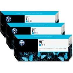 Hp - Hp 91-C9483A Mavi Kartuş 3'lü Paket - Orijinal
